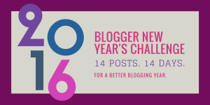 new year blogging challenge