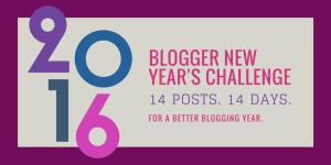 new year blogging challenge